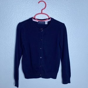 Children's Place Navy Cardigan Sweater Small 5/6